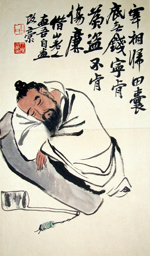 Qi Baishi, Stealing the Wine Vat, before 1957, public domain, source: Wikimedia Commons
