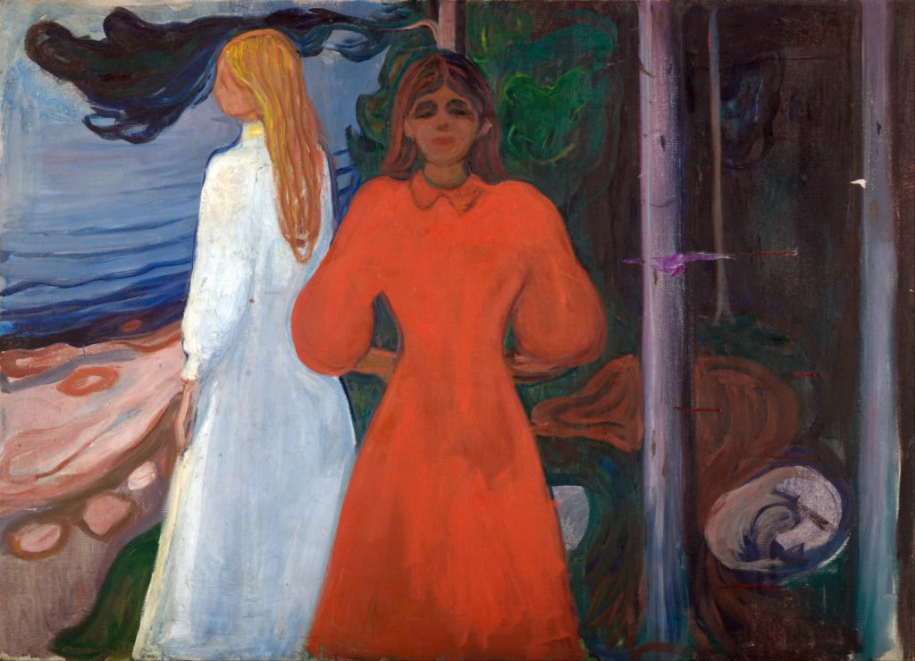 Edvard Munch: Red and White (1894) Munch Museum, Oslo Munch Frieze of Life