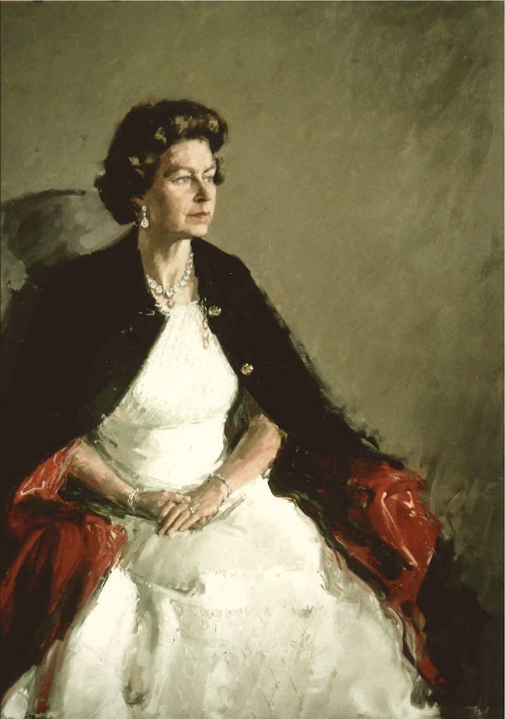 David Poole,Her Majesty Queen Elizabeth II' for Royal Artillery Woolwich, 1975, Royal Society of Portrait Painters