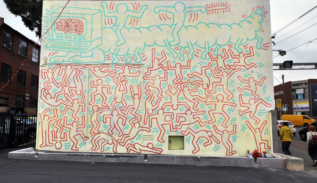 Collingwood Mural of Keith Haring
