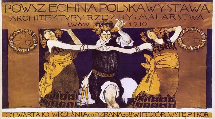 Kazimierz Sichulski - Poster for Polish Exhibition of Contemporary Architecture, Sculpture and Painting, 1910 polish film posters