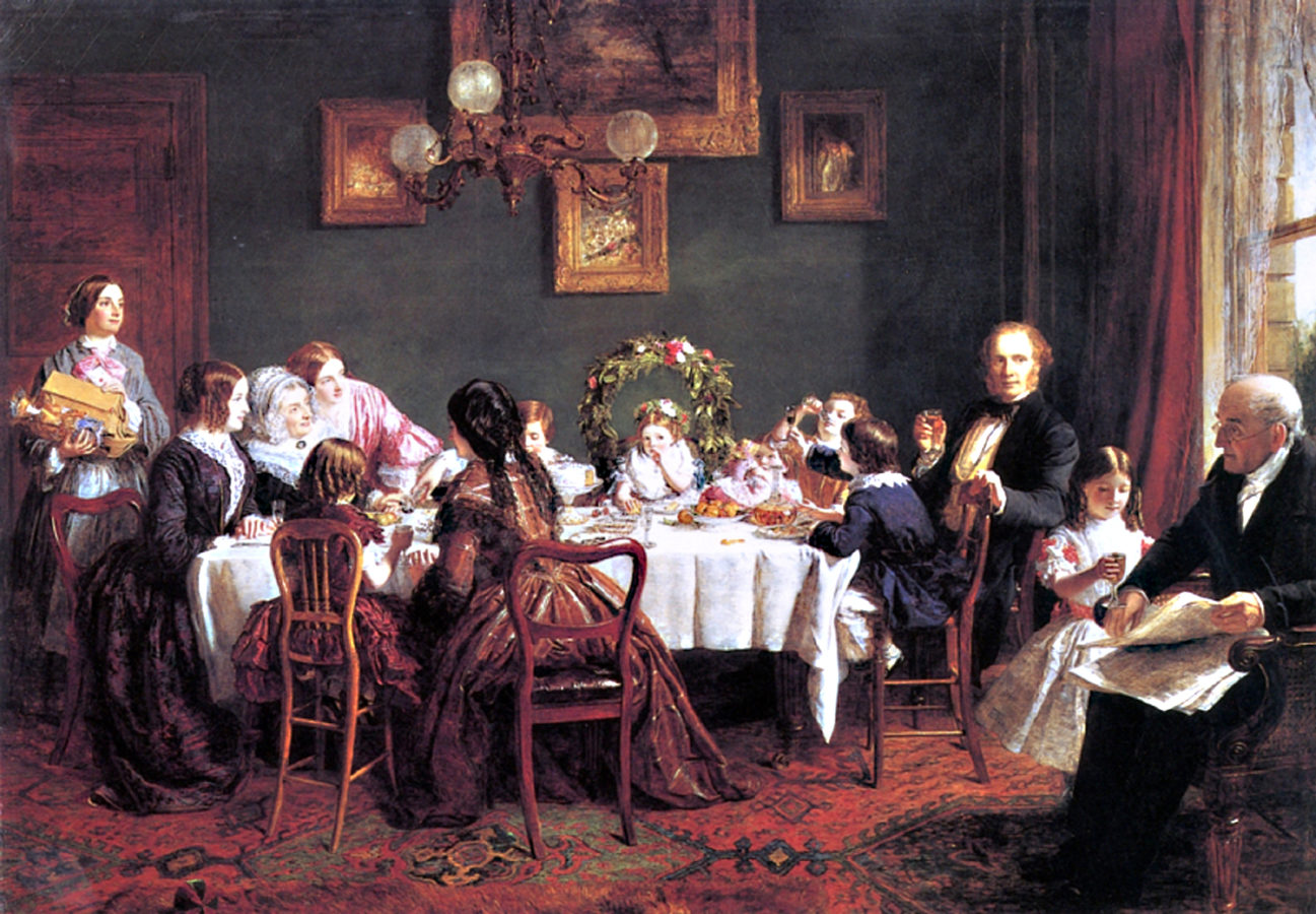 Five Things Everyone Should Know About the Victorians:  William Powell Frith, Many Happy Returns of the Day, 1856, The Mercer Art Gallery, Harrogate, London, England, UK