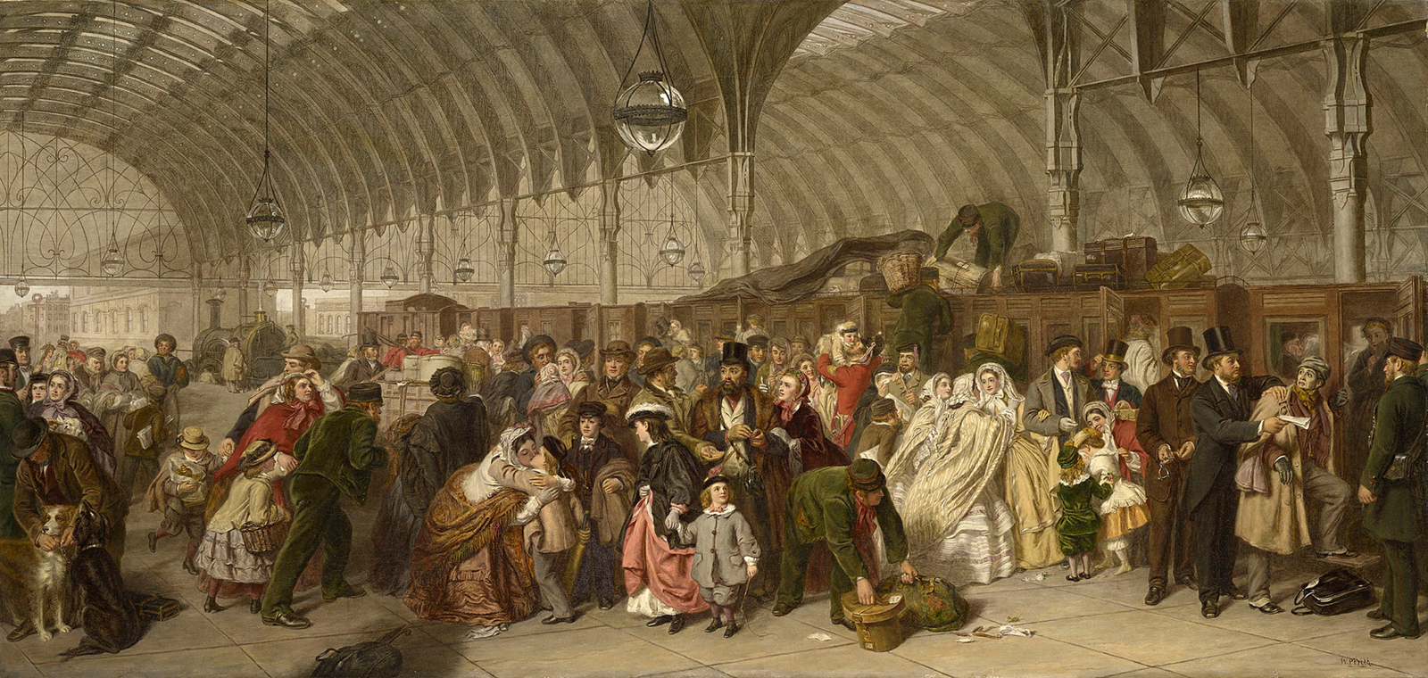 Five Things Everyone Should Know About the Victorians: William Powell Frith, The Railway Station, c.1862-1909, Royal Collection, London, England, UK.