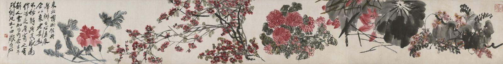 Qi Baishi, Flowers in Broken Branches, comuseum.com