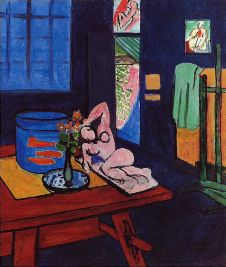 Henri Matisse, Interior with Goldfish, 1912, The Barnes Foundation, Philadelphia, matisse with goldfish