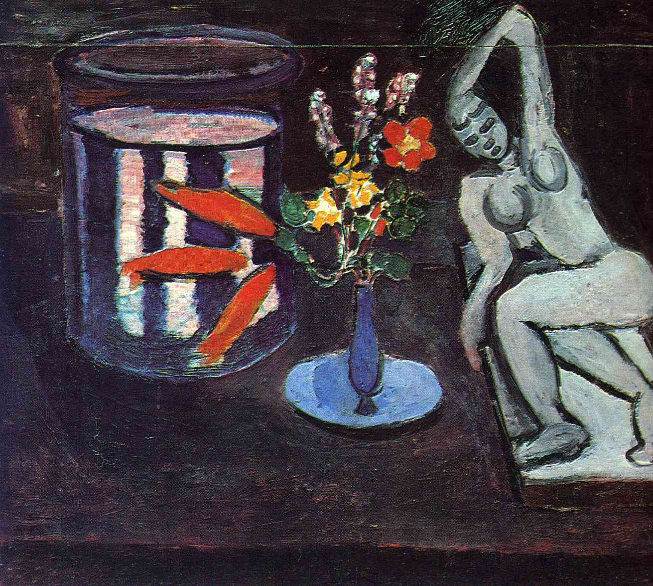 Henri Matisse, Fish tank in the room, 1912, Statens Museum for Kunst, Copenhagen, matisse with goldfish