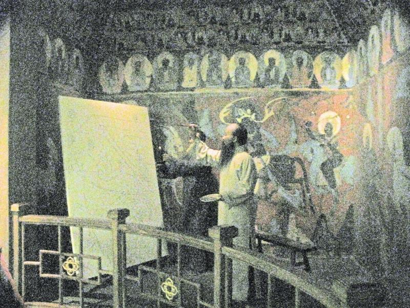 Zhang Daqian painting at Dunhuang, source: elhurgador.blogspot.com chinese artist zhang daqian