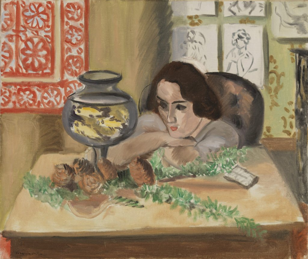 Henri Matisse. Young Woman before an Aquarium matisse obsessed with goldfish