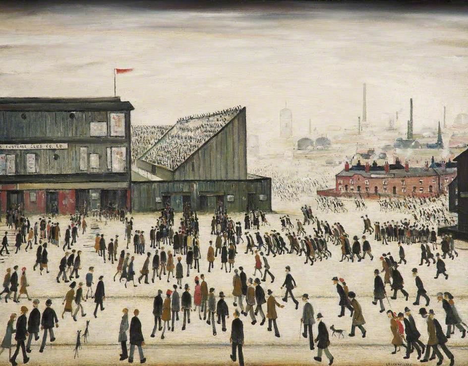Laurence Stephen Lowry, Going to the Match, 1928, The L. S. Lowry Collection, © the estate of L. S. Lowry. All rights reserved, DACS 2018. Photo credit: The Lowry Collection, Salford, game ls lowry