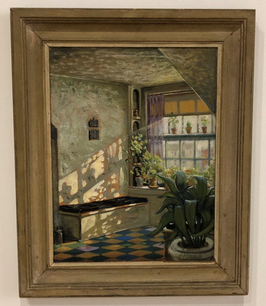 Grant Wood, 'Sunlit Studio,' 1925-26. Oil on composition board grant wood exhibit in the whitney museum in new york city