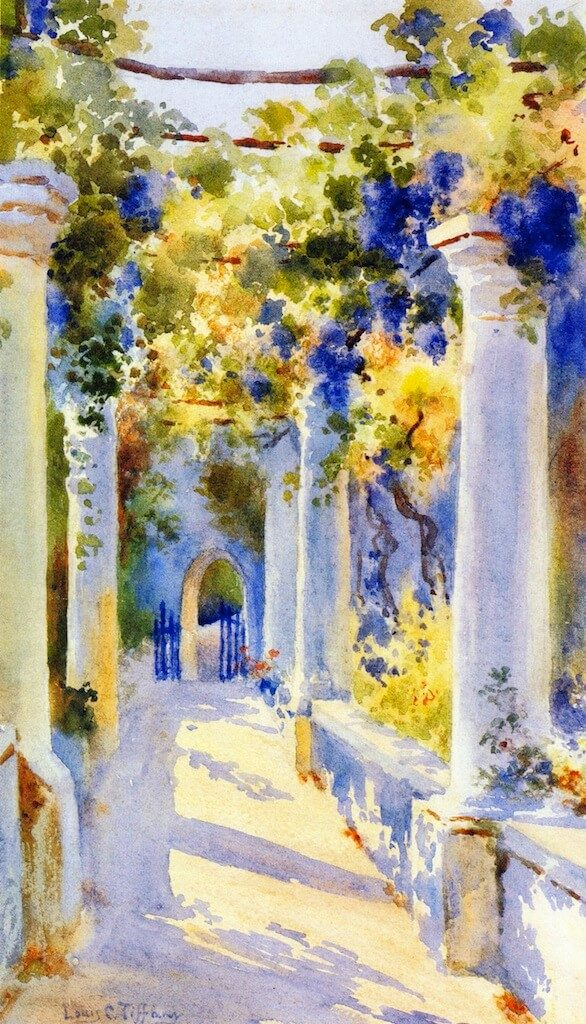 Tiffany's paintings Loggia at Laurelton Hall