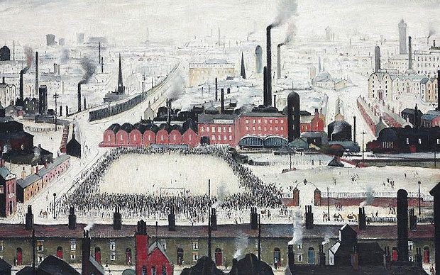 Laurence Stephen Lowry, Football Match, 1949, private collection, game ls lowry