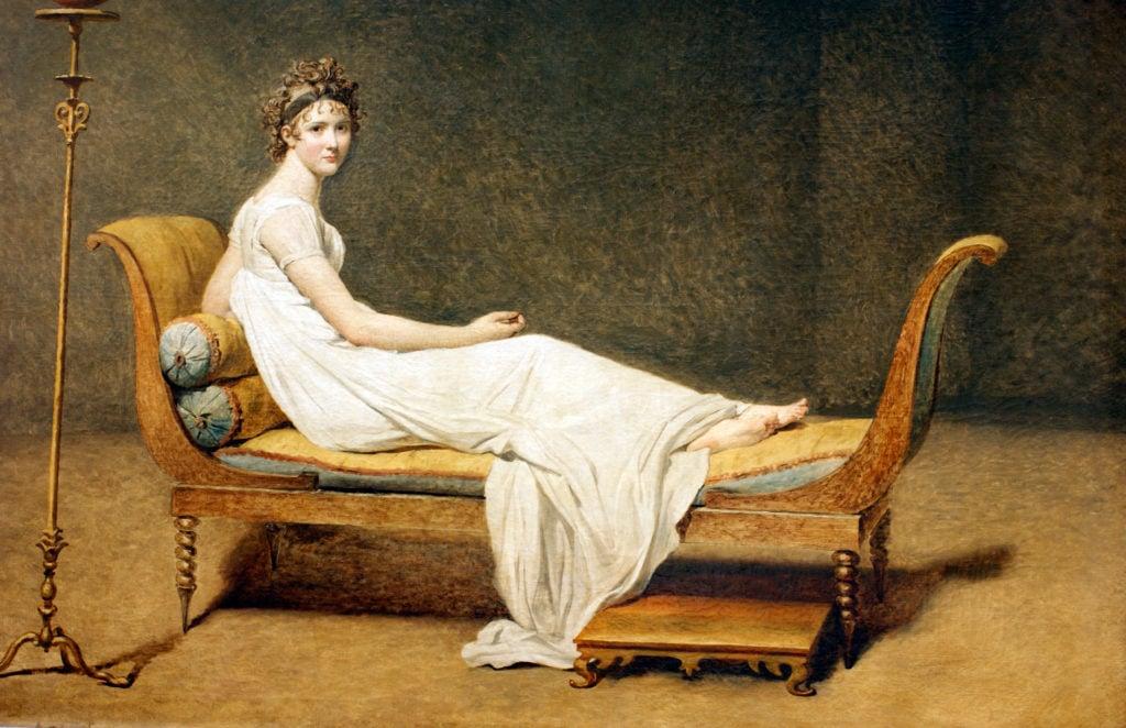 Beyonce Jay-z Louvre videoJacques-Louis David,Portrait of Madame Récamier, 1800, Musée du Louvre