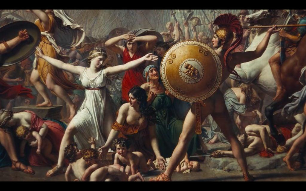 Beyonce Jay-z Louvre video Jacques-Louis David, The Intervention of the Sabine Women, 1796-99, Musée du Louvre