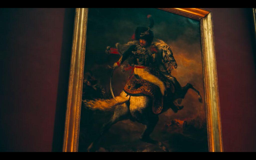 Beyonce Jay-z Louvre video Théodore Géricault, The Charging Chasseur, 1812, Musée du Louvre