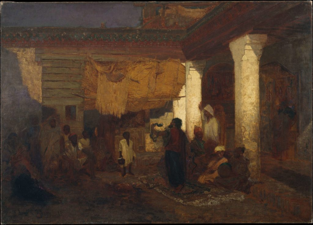 Tiffany's paintings Snake Charmer at Tangier Africa