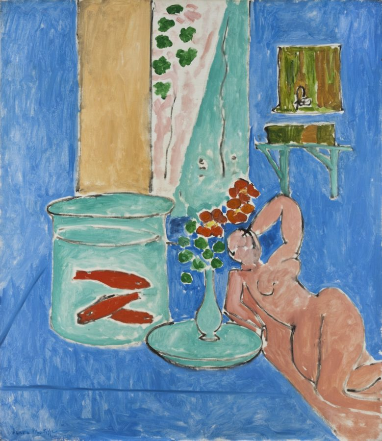 Henri Matisse, Goldfish and Sculpture, 1912, MoMA, NY, matisse with goldfish