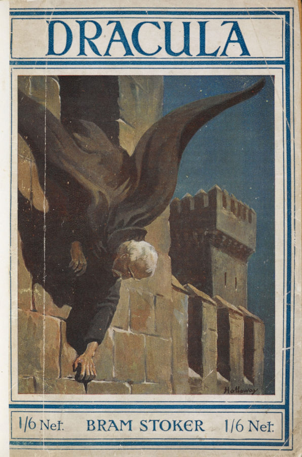 Five More Things Everyone Should Know About the Victorians: Front cover of the 1919 edition of Bram Stoker's Dracula, illustrated by Holloway. The British Library.