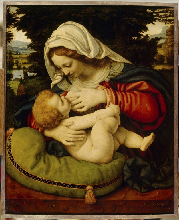 Andrea Solario, Madonna with the Green Cushion, 1507-10, Musée du Louvre