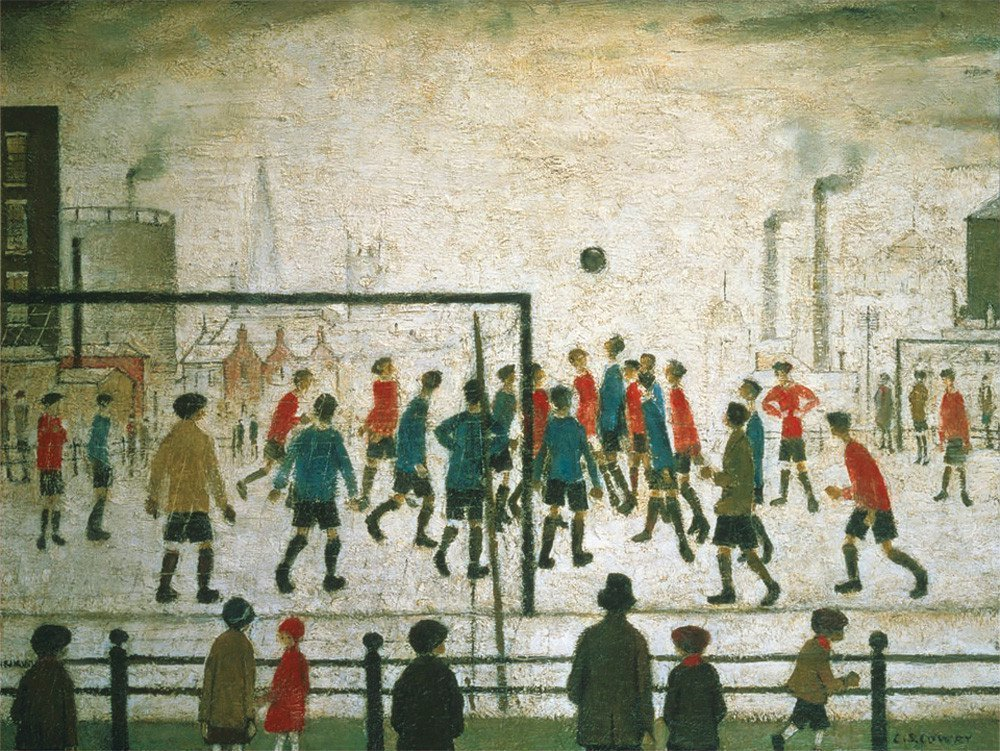 Laurence Stephen Lowry, Football Match, 1949, The L. S. Lowry Collection, © the estate of L. S. Lowry. All rights reserved, DACS 2018. Photo credit: The Lowry Collection, Salford, game ls lowry