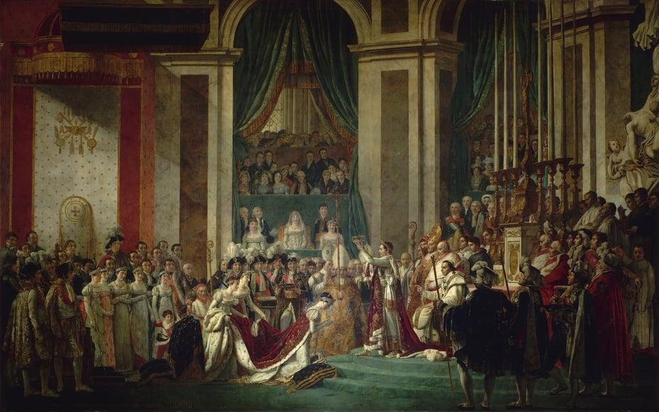 Beyonce Jay-z Louvre video Jacques-Louis David,Coronation of Napoleon I, 1805-07, Musée du Louvre