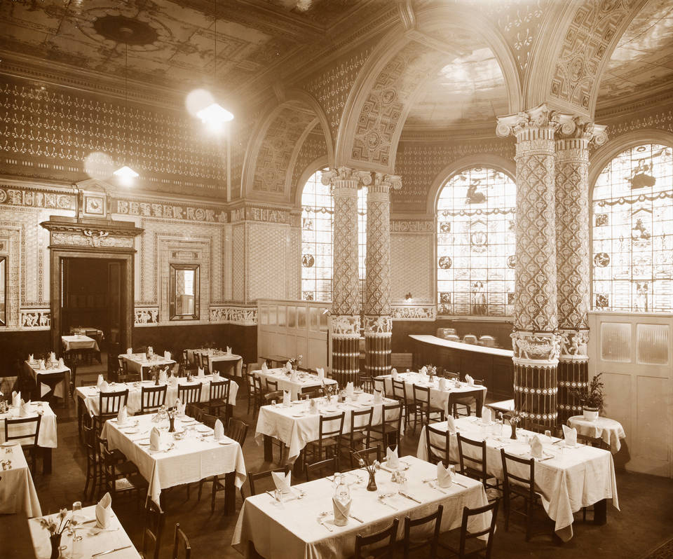 Five More Things Everyone Should Know About the Victorians: The Gamble Room in 1860, known then as the Central Refreshment Room, Victoria and Albert Museum, London, England, UK. Victoria and Albert Museum.