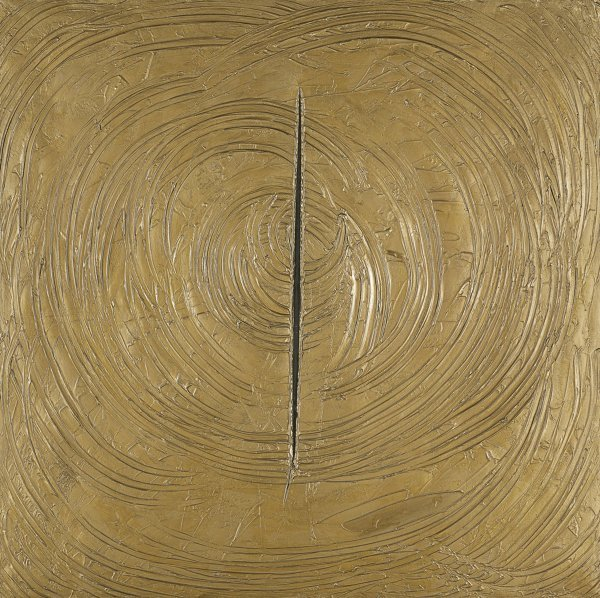 Lucio Fontana, Venice was all gold, 1961, Museo Thyssen-Bornemisza, Madrid