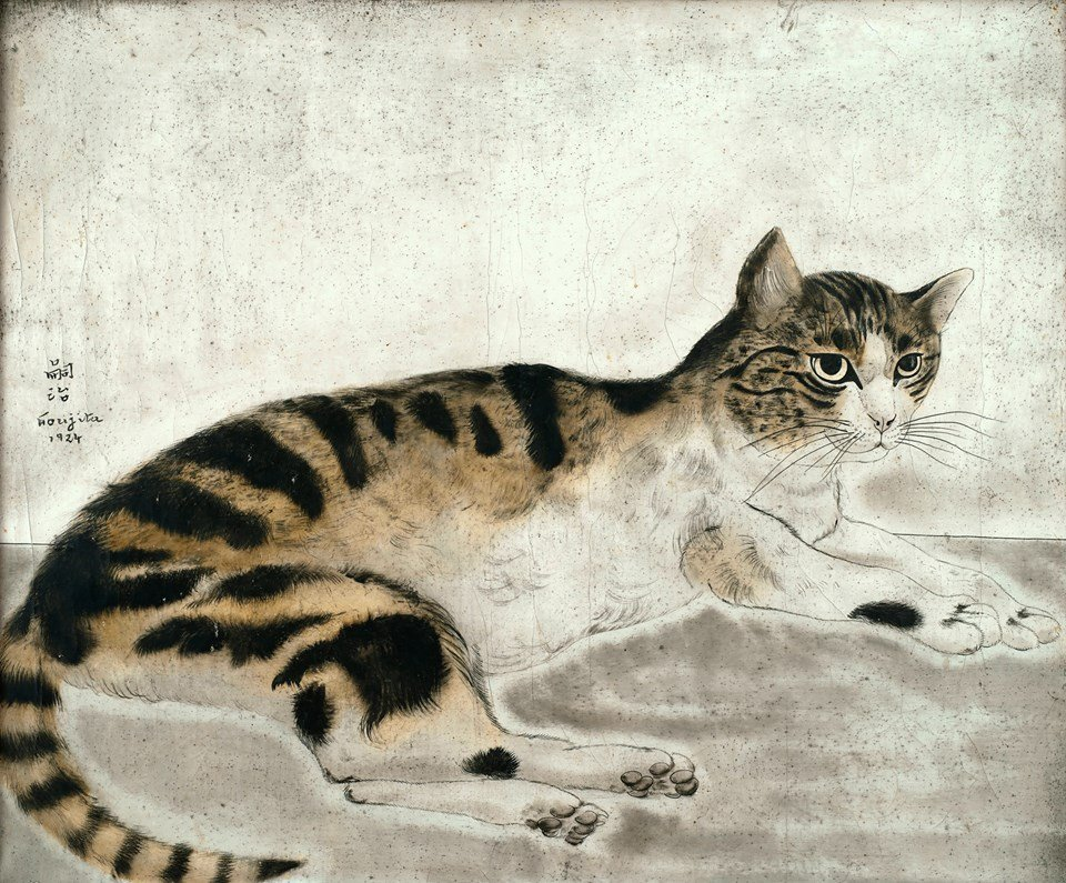 Foujita Cats Chat tigré, Léonard Tsuguharu Foujita, 1924, Collection particulière France © Fondation Foujita / Adagp, Paris, 2018