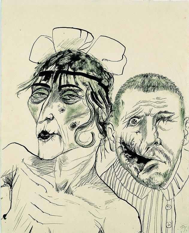 Otto Dix, Prostitute and War Veteran, Two Victims of Capitalism, 1923, Westphalian State Museum of Art and Cultural History, Münster, Germany
