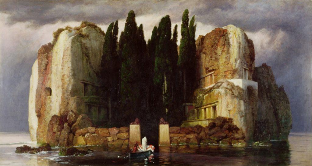 music inspired by visual art: Arnold Bocklin, Die Toteninsel or The Isle of the Dead, 1886, Museum der Bildenden Kunste, Leipzig, Germany.