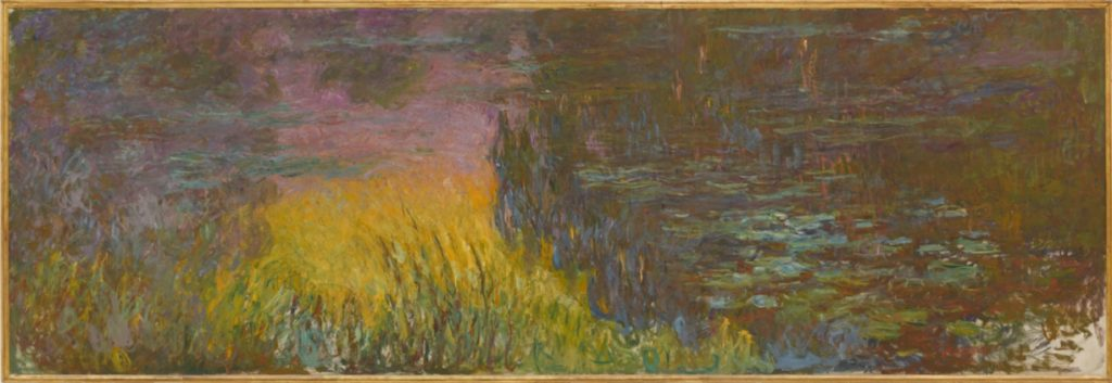 Claude Monet, The Water Lilies - Setting Sun1915 - 1926, @Musée de l'Orangerie, Paris, France