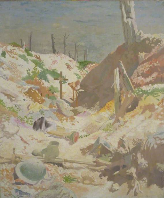 Sir William Orpen, A Grave in a Trench,Imperial War Museum, London
