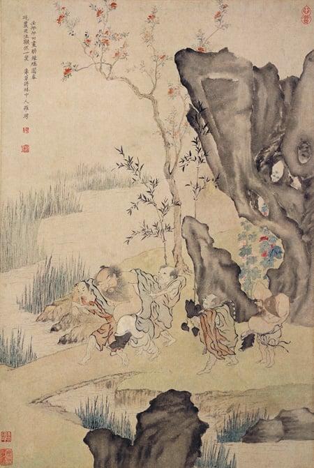 Luo Ping, Drunken Zhong Kui, 1762, Palace Museum, Beijing, China.