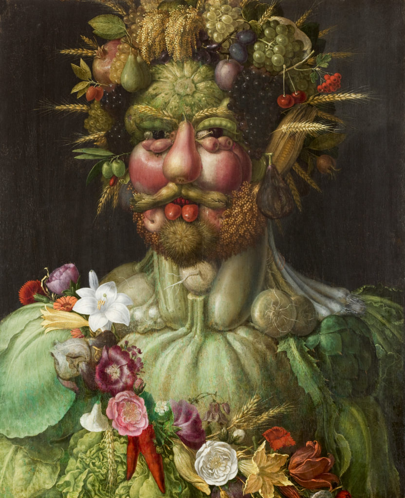 Giuseppe Arcimboldo, Rudolf painted as Vertumnus, 1590–1, Skokloster Castle in Sweden.
