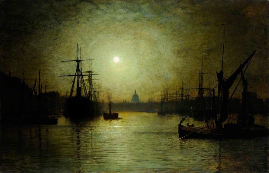 Grimshaw's landscapes Thames