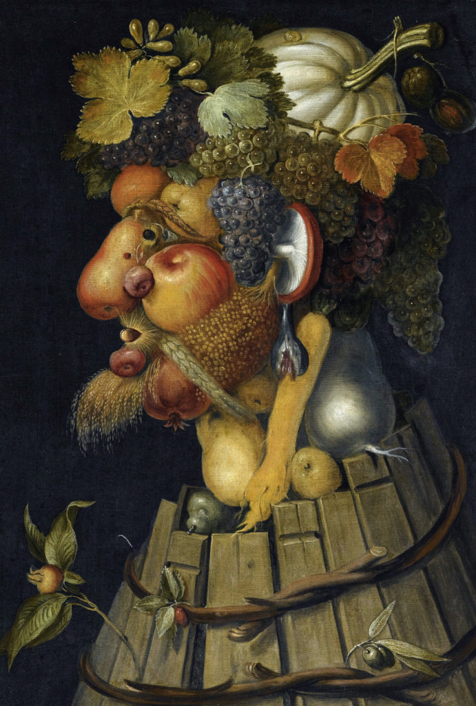 Arcimboldo's portraits: Giuseppe Arcimboldo, Autumn, 1573, Louvre Museum, Paris