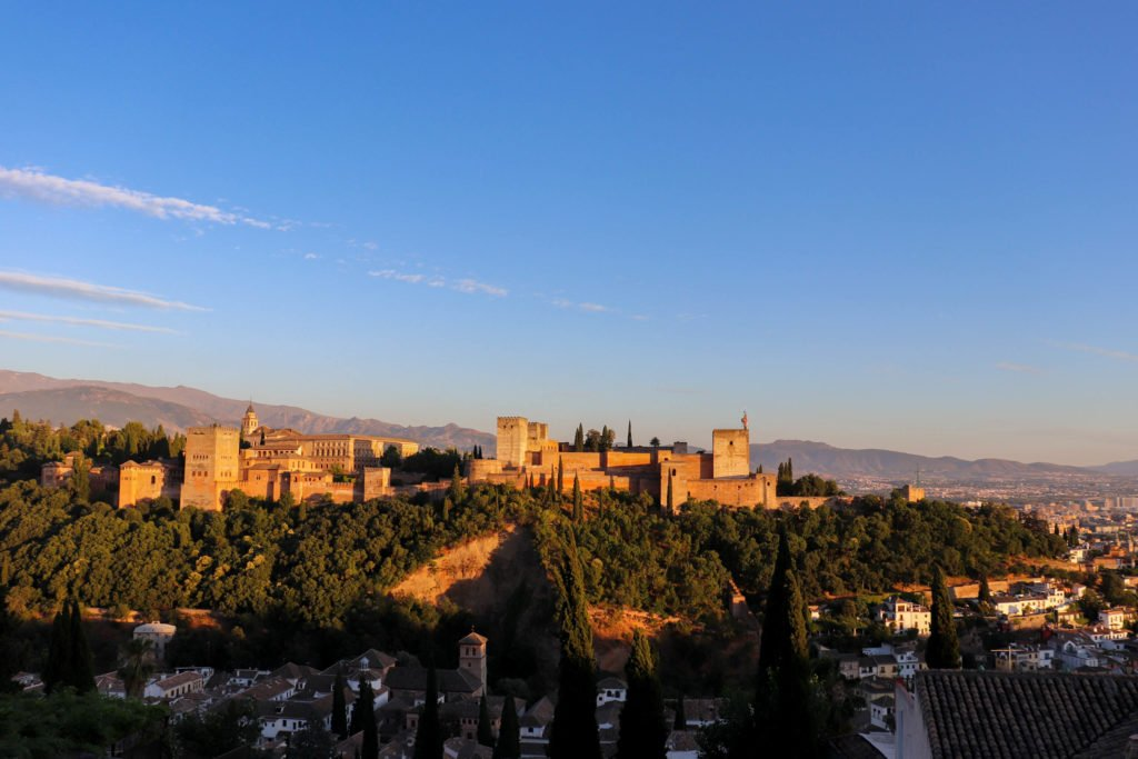 View of the Alhambra from Sacromonte, 2018, Photograph by Filip Grass.