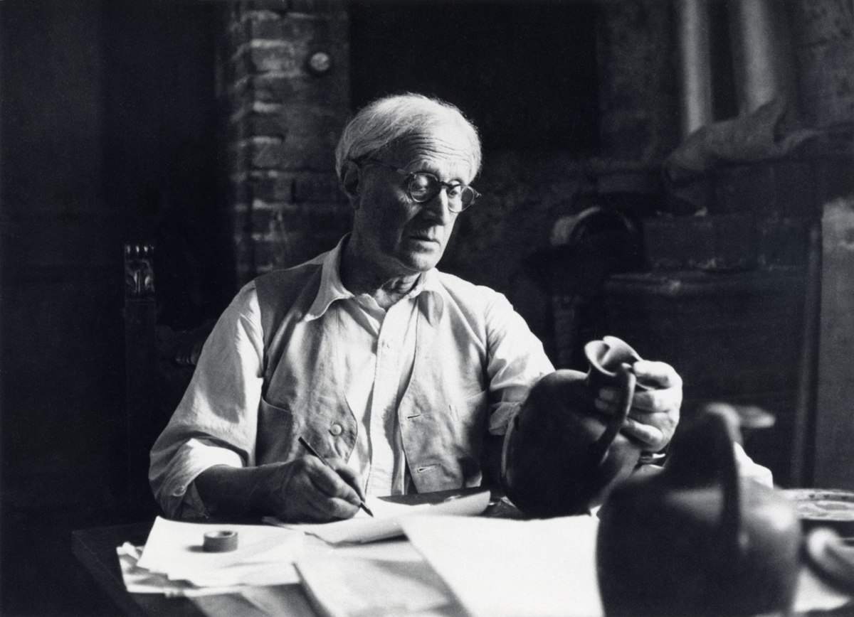 Sir John D. Beazley in his study; ancient greek pottery terms