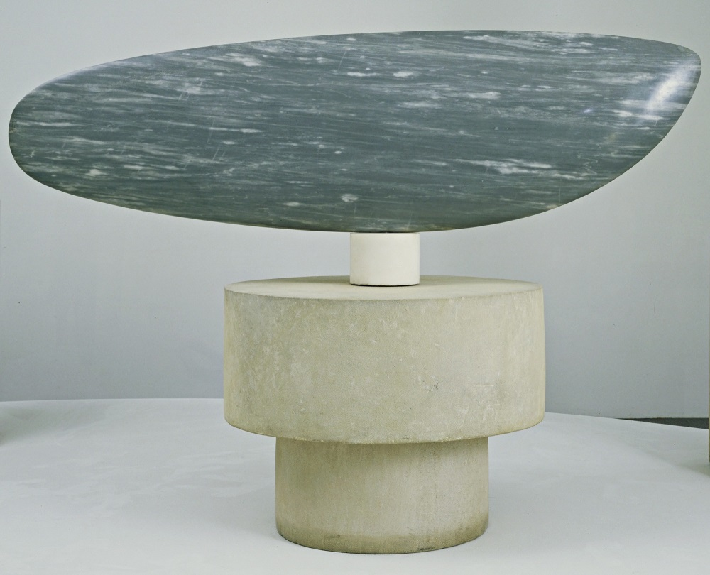 Constantin Brancusi, Fish, 1930, blue-gray marble, on three-part pedestal of one marble and two limestone cylinders, Museum of Modern Art, New York sculptures of Constantine Brancusi