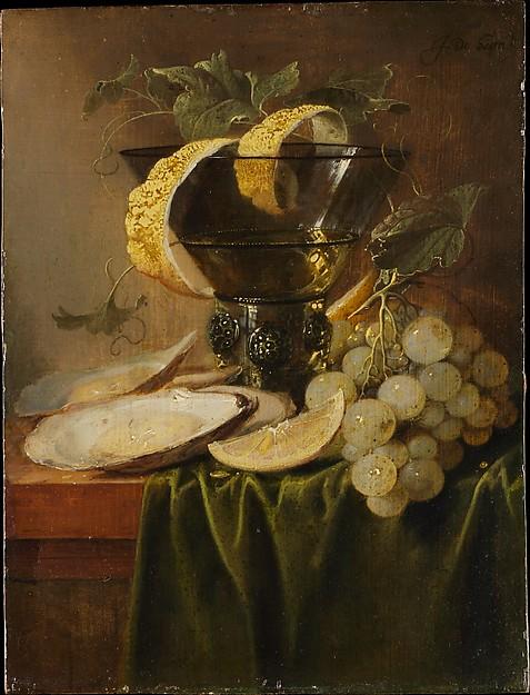 pronkstilleven Jan Davidsz. de Heem, Still Life with a Glass and Oysters,