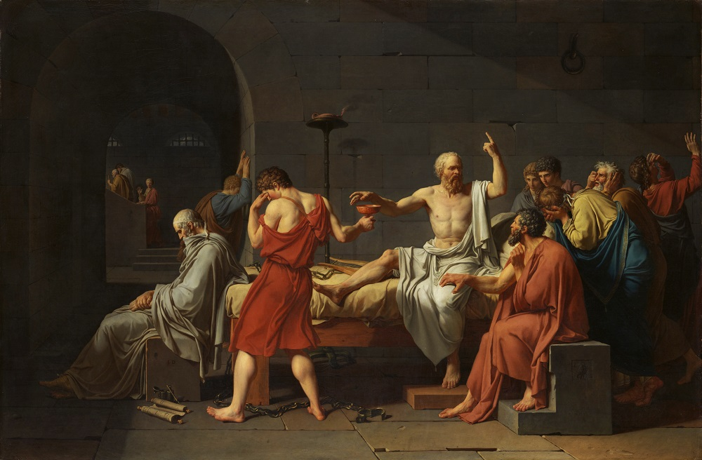 Jacques-Louis David, The Death of Socrates, 1787, oil on canvas, Metropolitan Museum of Art, New York