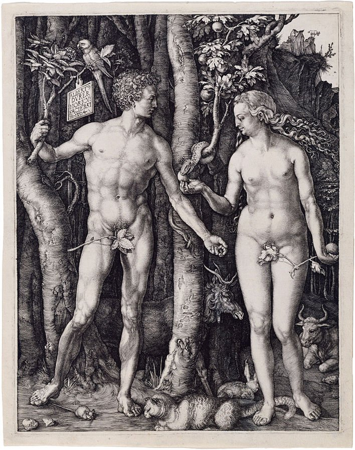 Durer Adam Eve annunciation in medieval and renaissance christian art