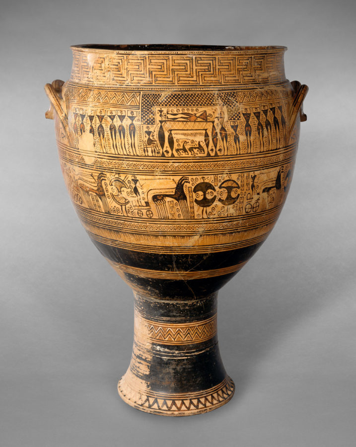 Geometric krater; ancient greek pottery terms