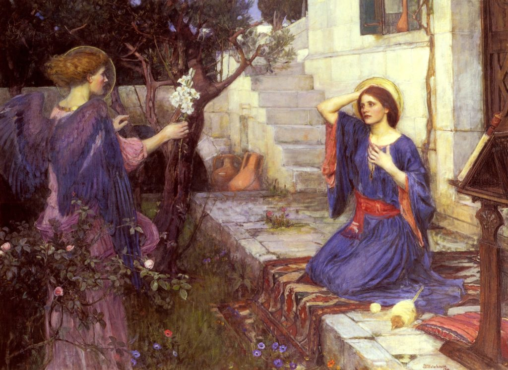 John William Waterhouse, The Annunciation, 1914, private collection