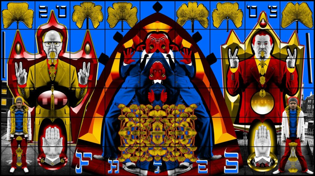Famous artist couples: Gilbert and George, Fates, 2005, Tate, London, England, UK.