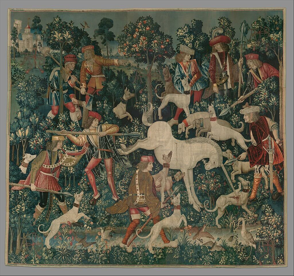 The Unicorn Defends Itself Unicorn Tapestries