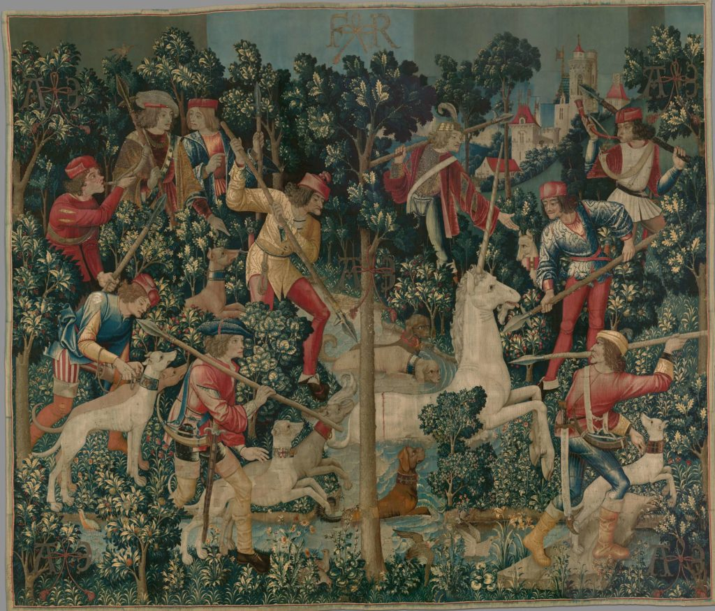 The Unicorn is Attacked Unicorn Tapestries
