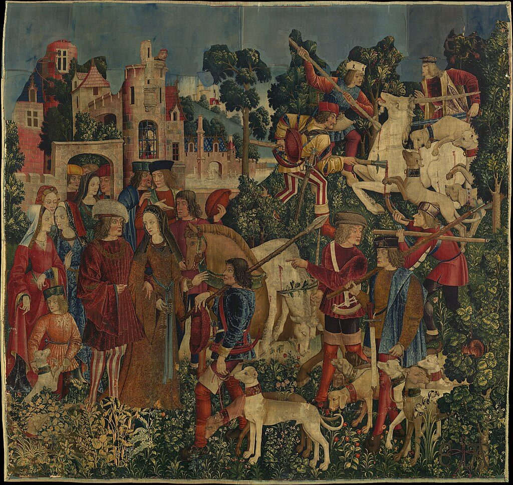 The Unicorn is Killed and Brought to the Castle Unicorn Tapestries