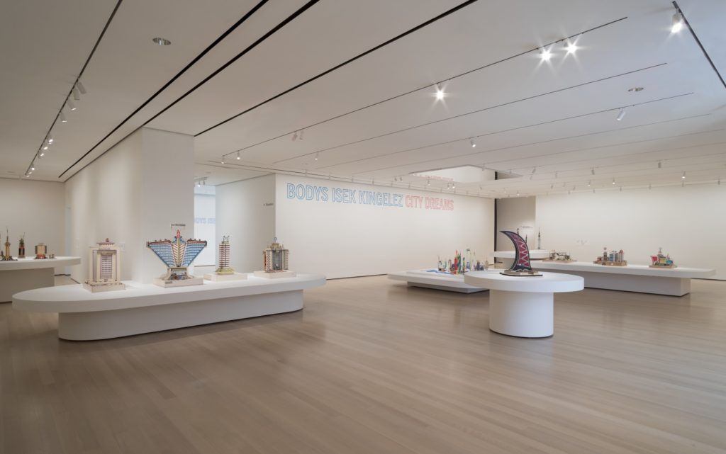 """Installation view of the exhibition, """"Bodys Isek Kingelez: City Dreams"""". Photograph by Denis Doorly, source: moma.org"""