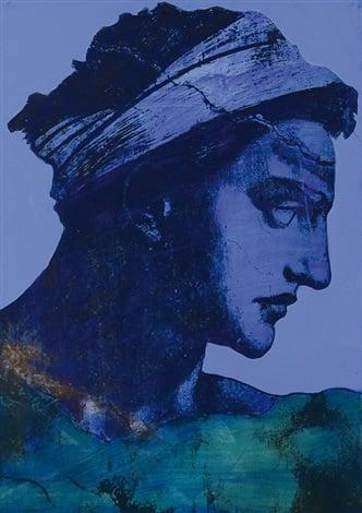 Tano Festa, Michelangelo revisited, 1987, private collection, michelangelo a new pop icon